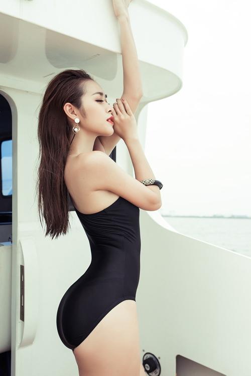 diep bao ngoc tu tin khoe vong eo 58cm voi bikini - 6
