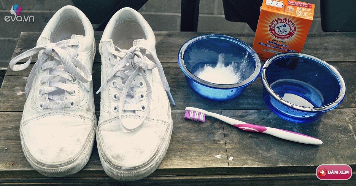 Cúng Khai Trương đơn Giản: Mẹo Làm Trắng Giày Vô Cùng đơn Giản Từ Soda