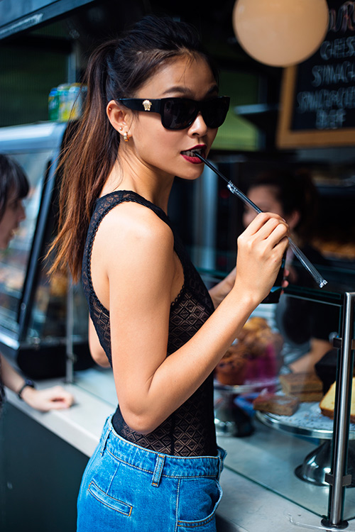 street style cuon hut cua mau thuy tren duong pho new york - 2