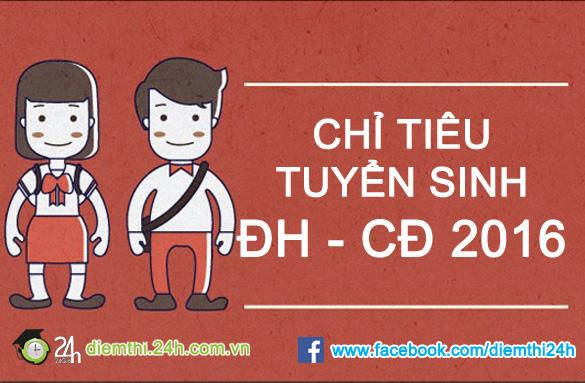 chi tieu tuyen sinh cac truong dai hoc - cao dang nam 2016 - 1