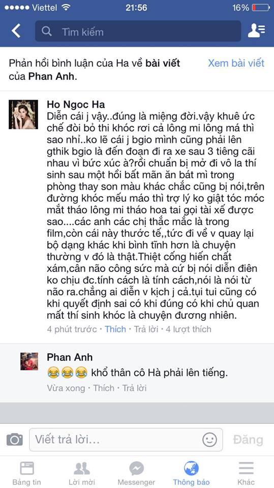 """the face viet nam: ha ho """"noi dien"""" khi lan khue bi to gia tao - 3"""