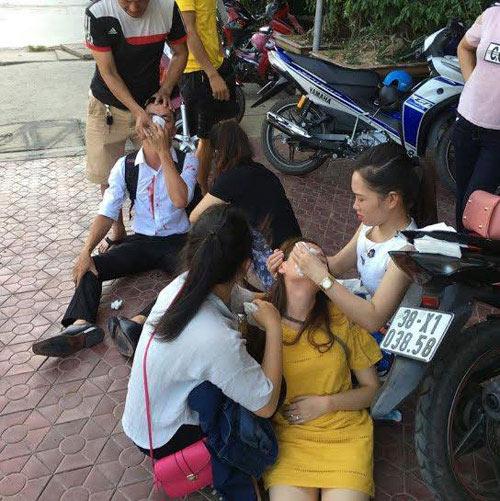 con trai pho chu tich huyen danh thai phu nhap vien bi phat hanh chinh - 1