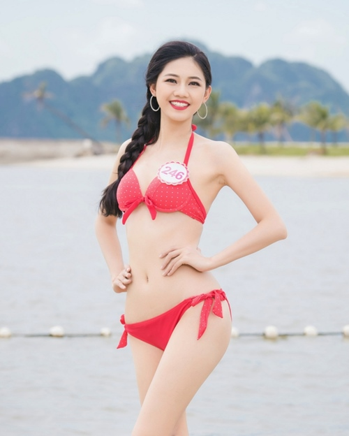 hoa hau viet nam 2016: body goi cam cua thi sinh co vong 3 khung nhat - 1