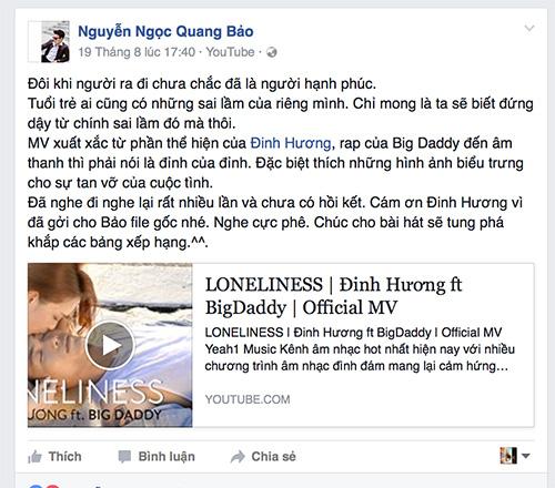 lan khue bat ngo ung ho bigdaddy 'phan boi' dinh huong - 8