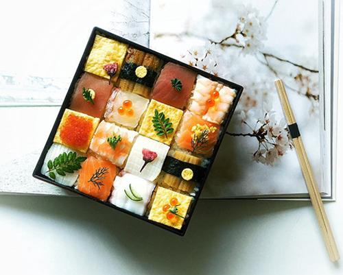 tu sushi mieng, nguoi nhat chuyen sang me man sushi ghep hinh - 2