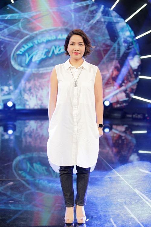 diva my linh xinh dep di day hat cho thi sinh vietnam idol - 1