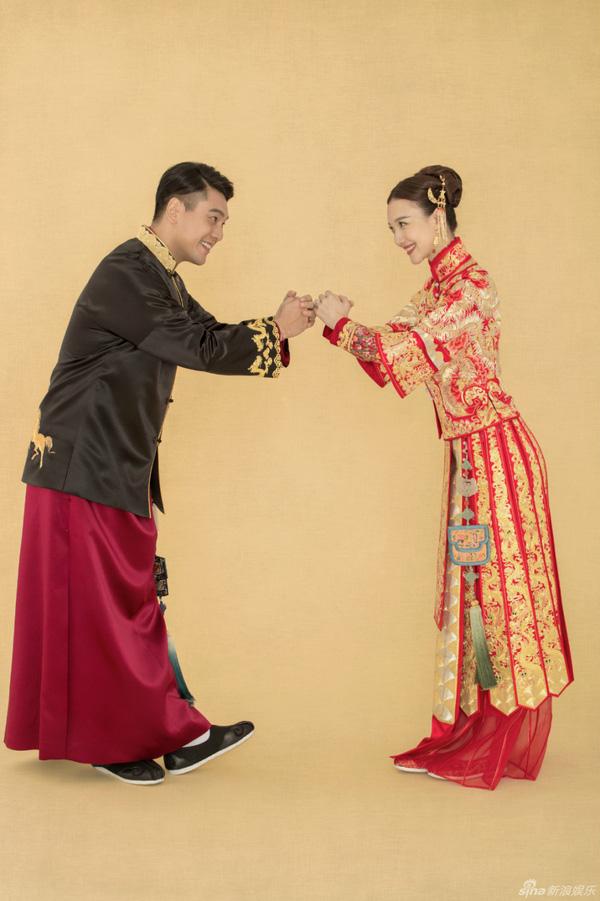 """Mỹ nam """"Vườn sao băng"""" Chu Hiếu Thiên ngọt ngào hôn vợ trong lễ rước dâu-12"""
