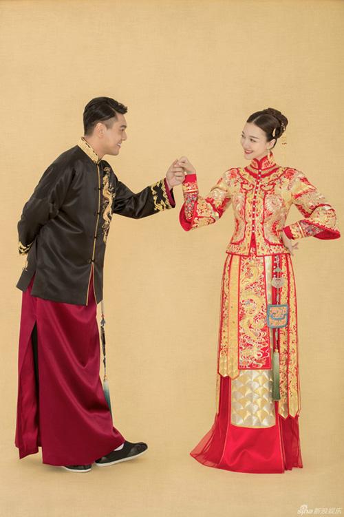 """Mỹ nam """"Vườn sao băng"""" Chu Hiếu Thiên ngọt ngào hôn vợ trong lễ rước dâu-13"""