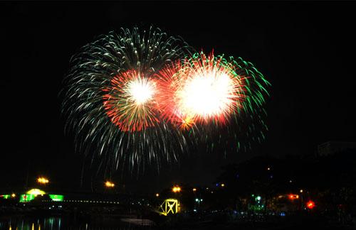 Pháo hoa lung linh trên bầu trời Sài Gòn mừng Tết Độc lập-4