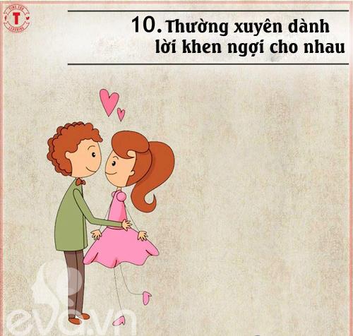 20 bí mật của cặp vợ chồng hạnh phúc-10