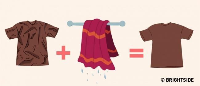 7 cách làm phẳng quần áo phòng khi không có bàn là - 6