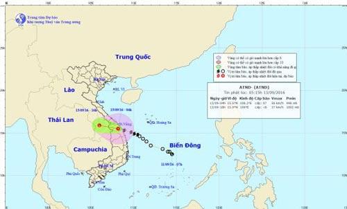 Bão số 4 đã suy yếu thành áp thấp nhiệt đới, gây mưa to ở miền Trung-1