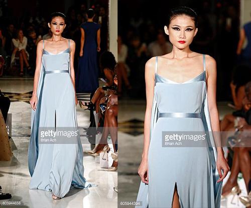 hoang thuy, kha my van trinh dien tai london va new york fashion week - 2