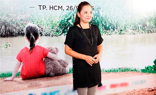 """truong thi may bat ngo xuat hien tai buoi casting phim """"hai nua yeu thuong"""" - 3"""