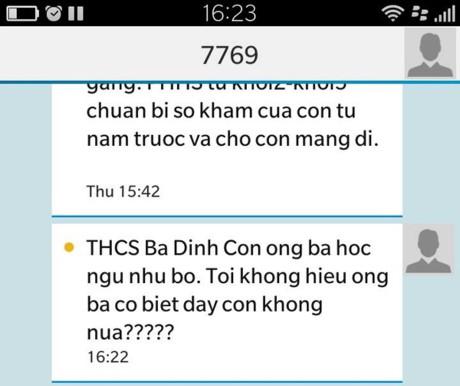 "bat duoc thu pham nhan tin cho phu huynh ""con ngu nhu bo"" - 2"