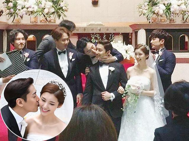 Đám cưới Eric Mun (Shinhwa) nhưng người trao nụ hôn cho chú rể không phải cô dâu