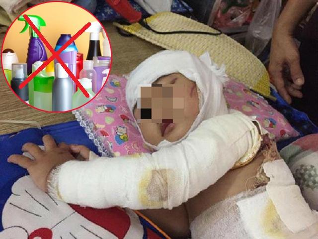 Từ vụ bé 2 tuổi bỏng toàn thân vì chất thông bồn cầu: Cẩn trọng mất tiền mua rồi lại tự hại chính mình