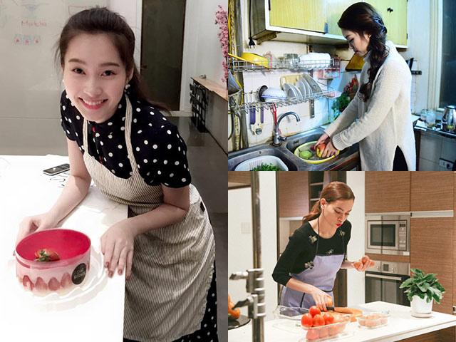 Những lần Bảo Thanh, HH Mỹ Linh cùng dàn mỹ nhân Việt vào bếp nấu ăn khiến dân tình ngỡ ngàng