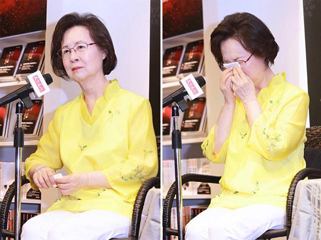 Nữ văn sĩ Quỳnh Dao bật khóc nức nở khi bị con riêng của chồng hắt hủi