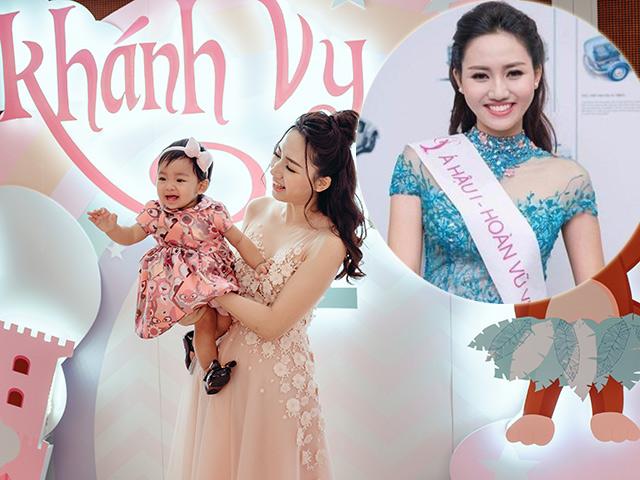 Á hậu Hoàn vũ Việt Nam 2015 kể về năm đầu làm mẹ ở tuổi 24 và kỷ niệm đi đẻ còn thèm bánh giò