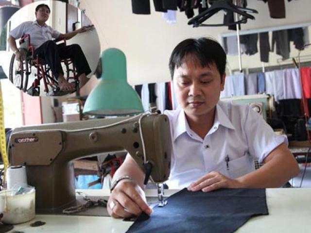 Chàng thợ may không chân với mong muốn được dạy nghề miễn phí cho người khuyết tật