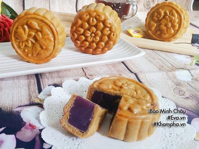 Cách làm bánh Trung thu nướng nhân khoai lang tím