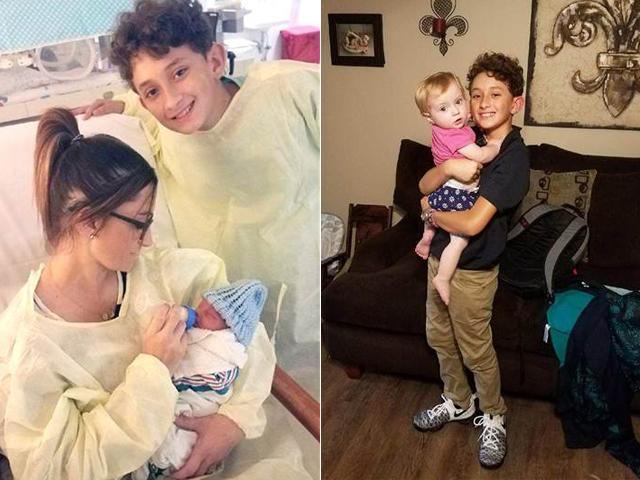 Chuyển dạ bất ngờ, bà mẹ được đỡ đẻ bởi chính con trai 10 tuổi