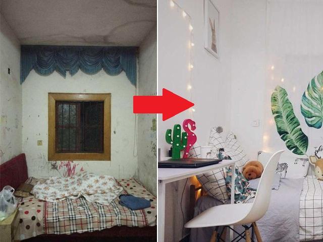 Cô gái bị chê cười vì thuê phòng trọ bẩn hẹp, sửa xong ai cũng kinh ngạc muốn dọn vào