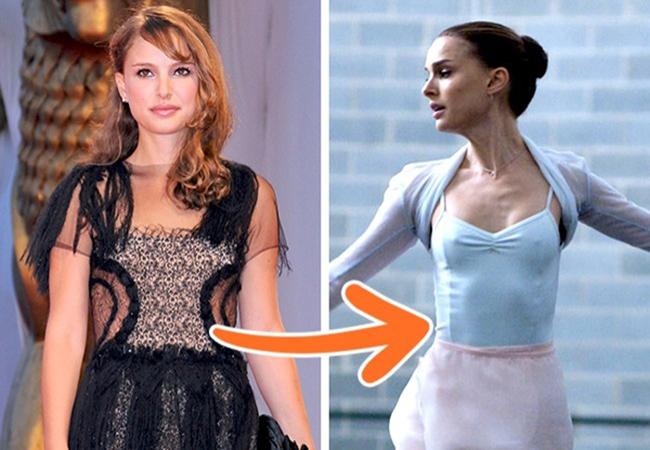 Để vào vai một diễn viên múa ba lê nhỏ bé đầy nghị lực, Natalie Portman phải giảm cân vớichế độ ăn khắc nghiệt chỉgồm 1/2 quả bưởi, 1 củ cà rốt và một nắm tay hạt hạnh nhân.Kết quả là cô giảm tới37kg trong thời gian quay phim.