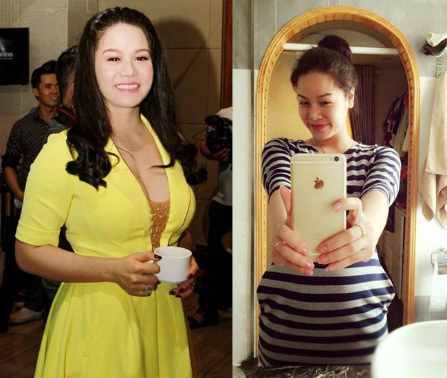 Thời mang bầu Nhật Kim Anh cũng vì con mà tăng tới 32kg do đó vóc dáng của cô khá tròn trịa, mũm mĩm.