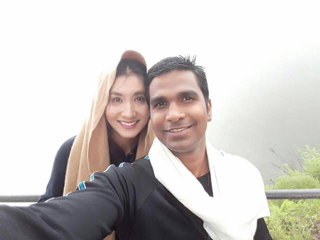 Hiếm hoi lắm, Nguyệt Ánh mới khoe ảnh hạnh phúc bên chồng Ấn Độ như thế này