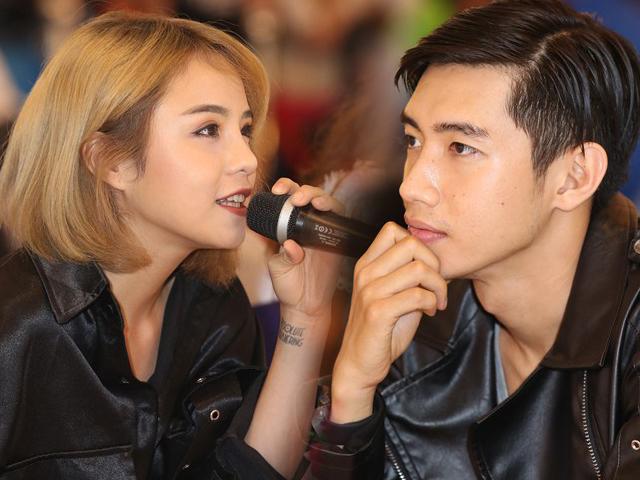 Cặp đôi Thái Trinh - Quang Đăng vừa quyền lực vừa đáng yêu khi ngồi ghế nóng chung kết