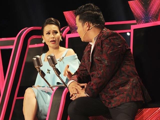 Cẩm Ly cáu, quát lớn khi Quang Lê đang tranh giành chỗ với chồng mình