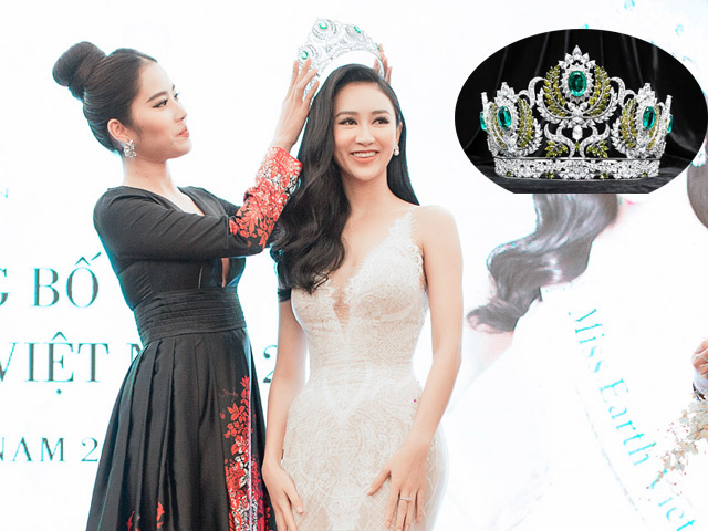 Nam Em trao vương miện Miss Earth danh giá cho Hà Thu