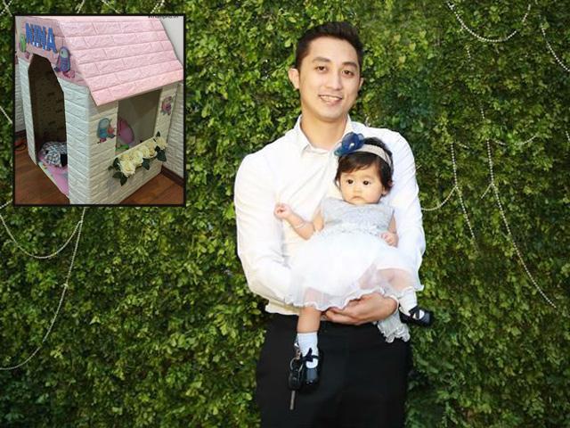 Bố Hà Thành điển trai tự tay làm nhà bằng bìa các tông tặng con gái yêu
