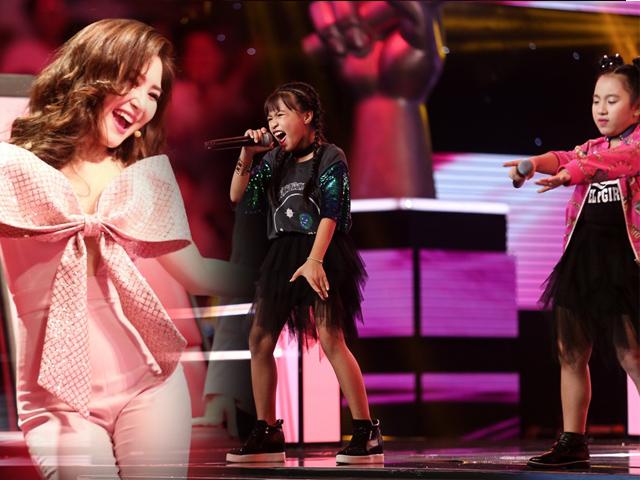 Giọng hát Việt nhí: 3 cô bé tăng động làm sân khấu như nổ tung