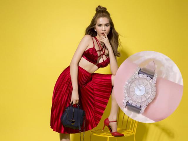 Ngọc Trinh khoe đồng hồ tiền tỷ mới tậu chào đón tuổi 28