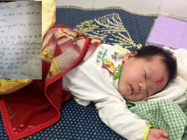 Cháu bé bị bỏ rơi trong đêm cùng lá thư của người mẹ đã được nhận nuôi