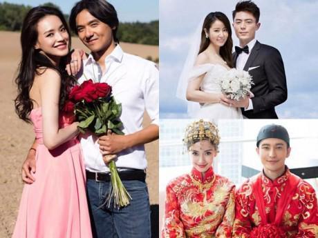 """Yêu nhau quá lâu, các cặp đôi Hoa ngữ phải cưới gấp vì """"sợ không còn ai tán""""?"""