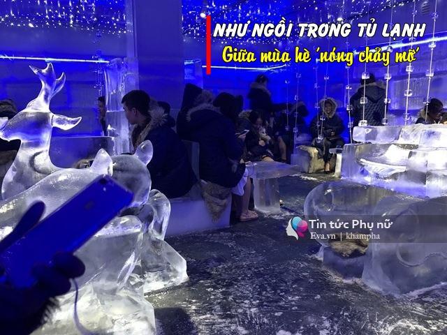 HOT: Người Hà Nội đổ xô đến quán cafe đóng băng -10 độ đầu tiên giữa thời tiết đổ lửa