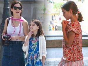 Giữa thông tin bố Tom Cruise tha thiết xin gặp, Suri bình thản đi nghỉ hè với mẹ Katie Holmes