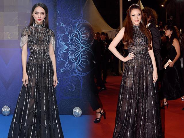 Chiếc váy bầu trời đêm của Lý Nhã Kỳ đã có một phiên bản lộng lẫy hơn của Hương Giang