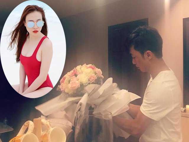 Đàm Thu Trang gọi Cường Đôla là chú bé bông, khoe ảnh anh trong phòng riêng của mình