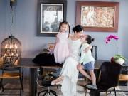 Làm mẹ - Những ngày đầu vắng bố, 3 mẹ con Hồng Nhung vẫn vui vẻ, chụp ảnh cười rạng rỡ