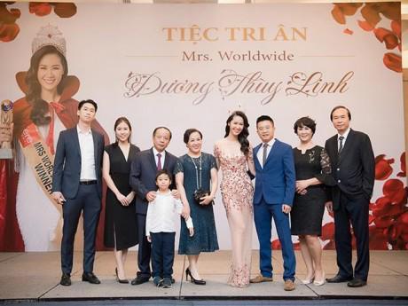 Dương Thùy Linh mở tiệc sau khi chính thức đăng quang Hoa hậu