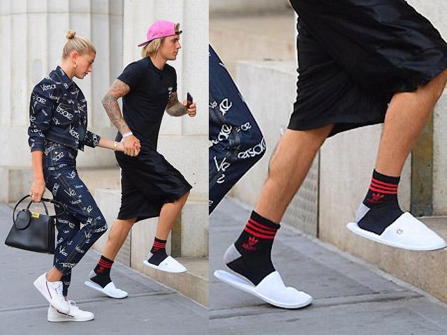 Hết quần tụt giờ lại đi dép ngủ ra đường, Justin Bieber là ngôi sao ăn mặc bất chấp nhất!