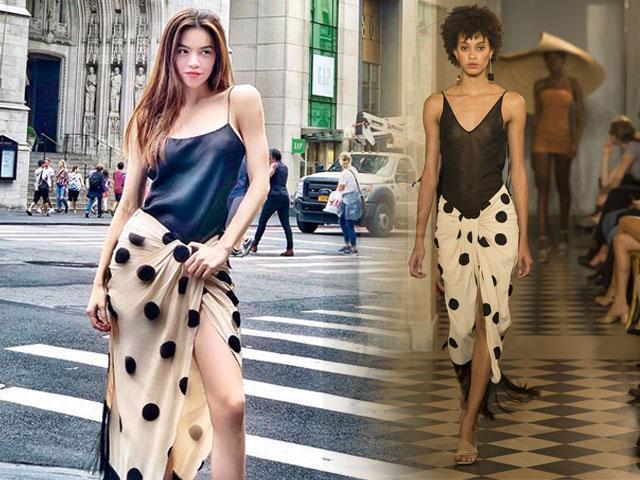 Diện váy hiệu mà ai cũng ngỡ Hồ Ngọc Hà quấn khăn đi giữa đường phố New York hoa lệ