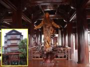 """Choáng ngợp trước căn nhà 5 tầng làm hoàn toàn bằng gỗ quý """"độc nhất vô nhị"""" ở Hà Tĩnh"""
