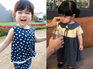 Danh tính cô bé phụng phịu mặt đến phát khóc vì bố không cho uống trà sữa