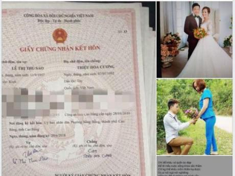 Bất ngờ lý do rò rỉ giấy kết hôn của cặp đôi vợ 61 tuổi, chồng 26 tuổi